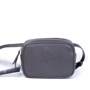 Saint Laurent Classic Lou Belt Bag Earth Grey
